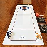 Dream-cool Shuffleboard-Tisch und Curling-Set, Tischspiel-Curling-Ball-Unterhaltungsspiele, Tisch-Curling-Spiel-Familienspiele für Kinder und Erwachsene