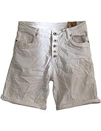 Itaimaska Damen Shorts Pailletten Jeansshorts Bermuda 34 36 38 40 42 Blau  Grau Grün Schwarz Weiß 1d501fedc8
