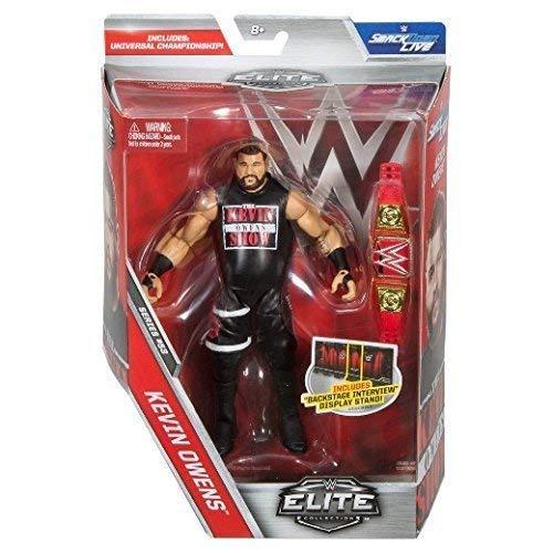 WWE Elite Serie 53 WRESTLING ACTIONFIGUR - Kevin Owens mit Rot Universal reine Gürtel & T-Shirt Zubehör von Mattel (Action-figur-gürtel Wwe Wrestling)