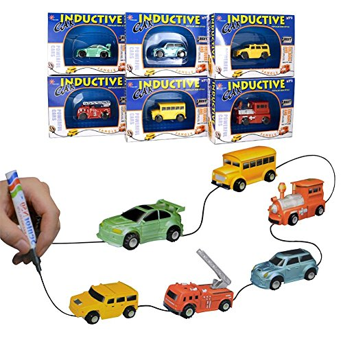 Yanghai Induktive Auto Spielzeug Set,Induktiver Lkw folgt schwarzem Line Magic Toy Car für Kinder(Car)