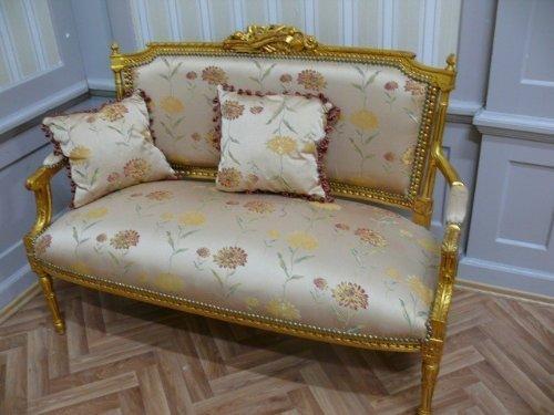 Canapé baroque style rococo antique Louis XV AlSa0315So