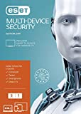 ESET Multi-Device Security 2019 | 5 User | 1 Jahr Virenschutz | Windows (10, 8, 7 und Vista), macOS, Linux und Android | Download | Standard  |  5 User  |  1  |  PC/Mac  | Online Code
