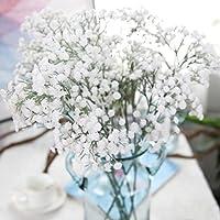 Tonsee 1 Bouquet Artificielle soie faux fleurs pivoine floral Bouquet mariage Fleural hortensia Real recherche décoration maison (Gypsophile)