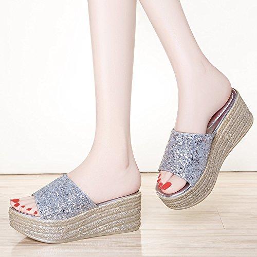 ZPPZZP Ms sandali pantofole Wild stile Coreano Paju spessa 37EU