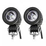 10w Cree Spot Beam LED Work Lights Driving Lamps Spot Offroad Fog Lights Spotlights Superbright LED Work Lights 12V for Car Motorcycle Truvk ATV ATV SUV Blat JK Headlight Running DRL (pack of 2) - jose201606 - amazon.co.uk