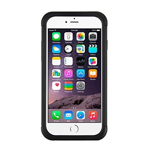 Phone case & Hülle Für IPhone 6 Plus / 6S Plus, Fußball Textur Kunststoff Fall ( Color : Grey ) Black