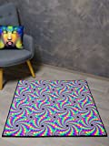 PSYWORK Schwarzlicht Teppich Fluo Peripheral Drift, 1x1m