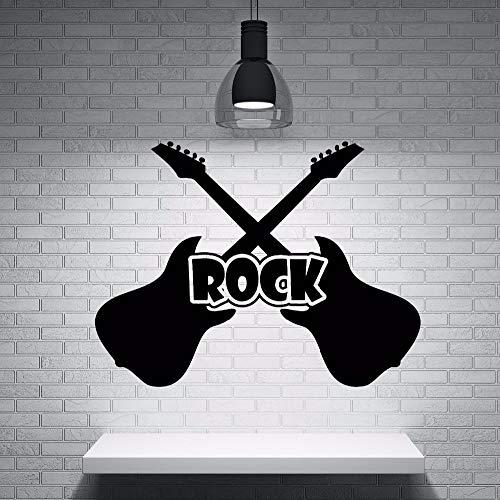 Yaonuli Guitarra Etiqueta de la Pared Vinilo Rock Guitarra Instrumento Musical Etiqueta de la Pared...