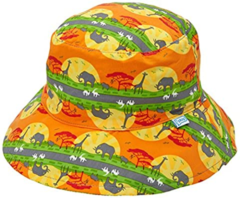 Iplay Baby Wendbarer Sonnenhut / Reversible Sun Protection Hat UV-Schutz 50+ Boys, Orange Safari Sunset (Reversible Sonnenhut)
