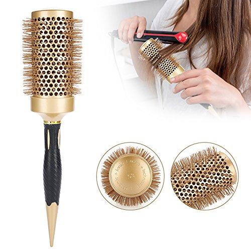 Gold-porzellan-fliese (Round Brush, Blow Dry Pinsel Portable Anion Antistatische Haar Kamm Salon Styling Pinsel Friseur Werkzeuge Gold(53 mm))