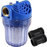 Agora-Tec® AT-Wasserfilter klein mit Max. Betriebsdruck: 8 bar, Max. Durchflussmenge: 3000 l/h, Maschenweite Filtersieb: 0,15 mm, Anschlüsse: 1 Zoll (30,3 mm) IG Messingbuchsen