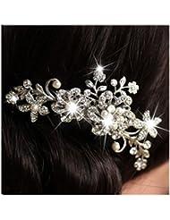 LQZ(TM) Mariage Peigne cheveux Fleur Strass Perles Epingle Cheveux Decor Soirée Anniversaire