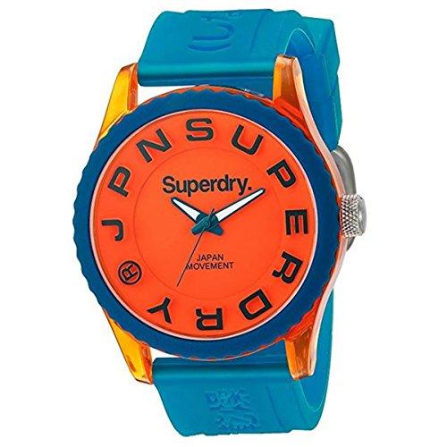 Superdry Herren Analog Quarz Uhr mit Silikon Armband SYG145UO