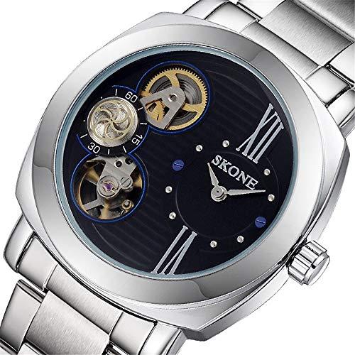Hyssb Automatische Maschinerie-Quarz-Vogue-Hohle Maschinerie-Uhr Schwarzes Gesicht Armbanduhren