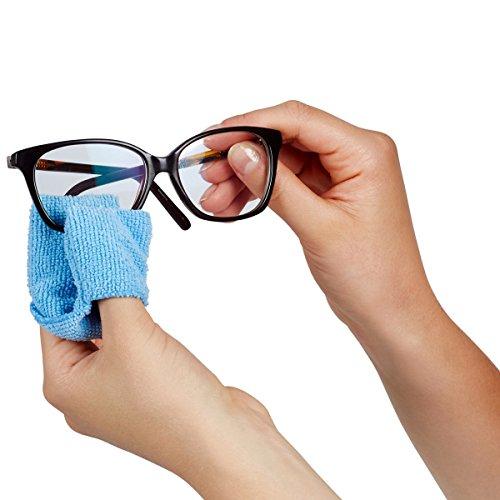 Unbekannt Brillenputz-Fingerlinge, 2 Stück, Brillenputztuch Reinigungstücher Microfasertuch für Gläser, waschbar, Polyester Polyamid, 13 x 4 cm