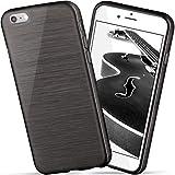 moex iPhone 6S | Hülle Silikon Schwarz Brushed Back-Cover TPU Schutzhülle Ultra-Slim Handyhülle für iPhone 6/6S Case Dünn Silikonhülle Rückseite Tasche