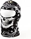 TOOGOO(R) Five Pointed Star Black with White Skull 3D Animal Active Outdoor Sports Cycling Motorcycle Masks Ski Hood Hat Veil Balaclava UV Protect Full Face Mask BB27