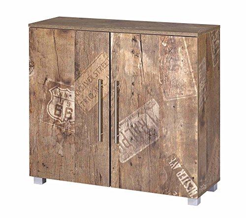 Kommode, Anrichte, Sideboard, Türenkommode, Panamaeiche, Vitage, B/H/T ca.90/83/35 cm