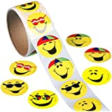 ULTNICE 100 PC círculo sonriente cara Emoji Stickers adhesivo de juguete divertido para niños de niños
