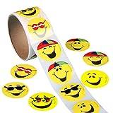 ultnice 100PCS Kreis Smiley, Emoji-Sticker funny Spielzeug Aufkleber für Kinder Kinder
