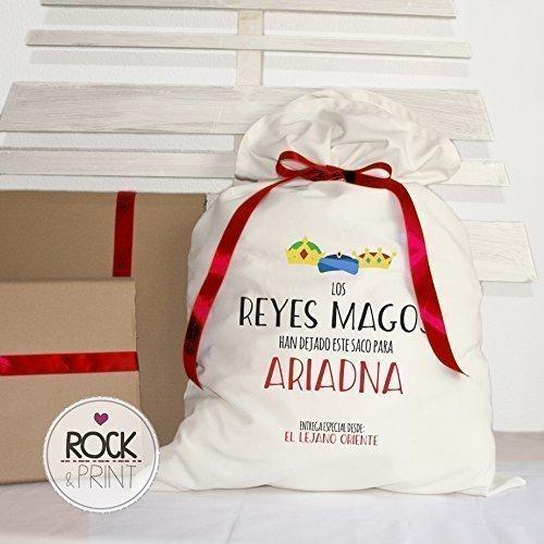 Saco regalos Reyes Magos. Personalizado 50x80 cm
