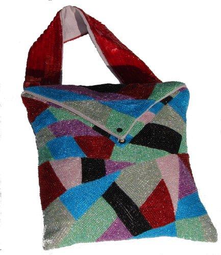 DAVENPORT HOME FURNISHINGS Perlen Handtasche Kissen, 10von 25,4cm -