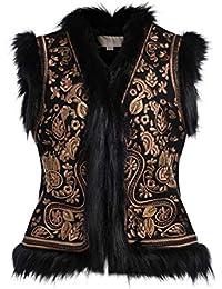 Vest Pullover   Strickjacken Damen Schwarz Gold Strickjacken 4f6bc90d3d