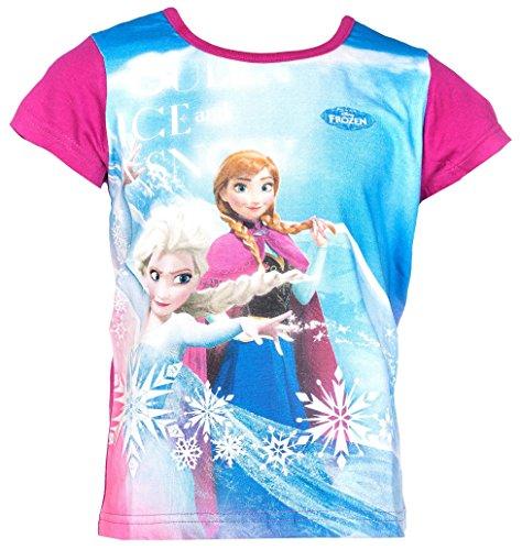 Disney Frozen Die Eiskönigin T-Shirt, Original Lizenzware, ELSA and Anna Beere, Gr. 116 (Anna Frozen Shirt Kleinkind)
