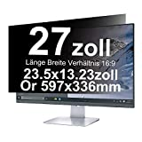 Xianan 27 Zoll Widescreen 16:9 Displayfilter Blickschutzfilter Blickschutzfolie Blickschutz Sichtschutz 23.5 * 13.23in/597 * 336mm