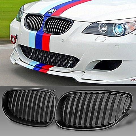 Opar Front Matte Black Sport Wide Grille r¨¦nale pour BMW E60 E61 M5 5 Series 2003-2010 - Paire