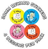 144 x Toilet training - 30mm Reward Stickers - School Teachers nursery or Parents