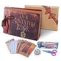 POOTACK Our Adventure Book Pixar Up Handmade DIY Family Scrapbook, Wedding Photo Album, Retro Album, Anniversary Scrapbook, Travel Album, Child