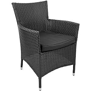 Noname 39621 Chaise Jamaica Noir 84 x 60 x 63 cm