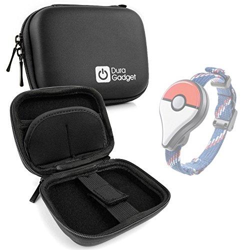 DURAGADGET Custodia Nera Per Pokemon Go Plus - Moschettone + Tasca Per Accessori