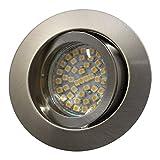 LED Einbaustrahler / Niedervolt / Aluminium / Spot / Einbauleuchte / Einbauspot / schwenkbar / RUND-14437 / MR16 / GU5.3-12V (Warmweiß)