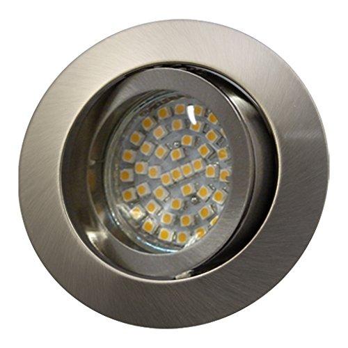 LED Einbaustrahler/Niedervolt/Aluminium/Spot/Einbauleuchte/Einbauspot/schwenkbar/RUND-14437 / MR16 / GU5.3-12V (Warmweiß) -