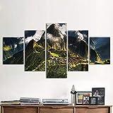 XLST Leinwand Home Decor für Wohnzimmer Moderne Bilder 5 Stücke Machu Picchu Peru Poster HD Kunst Malerei Gerahmt,A,30X40X230X60X230X80X1
