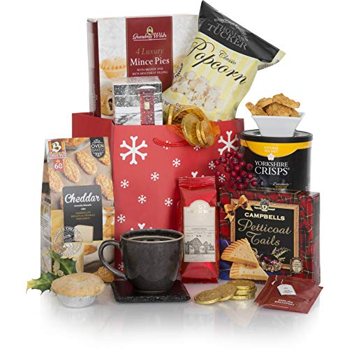 A Little Taste Of Christmas Hamper - Xmas Hampers and Festive Gift Baskets For Her - Christmas Food Goodies In A Great Red Gift Bag