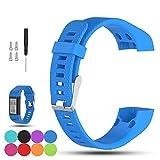 iFeeker Soft Silikon Ersatzarmband Uhrenarmband für Garmin Vivosmart HR Plus