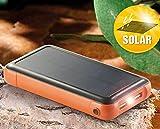 revolt Solar-Powerbank PB-200.s mit 20.000 mAh, Ladestand-Anz., 2x USB