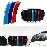12 Strand 3D Farbe Auto Frontgrill Grills Trim Streifen Cover Gap Aufkleber f/ür F10 F11 528i 535i 550i xDrive