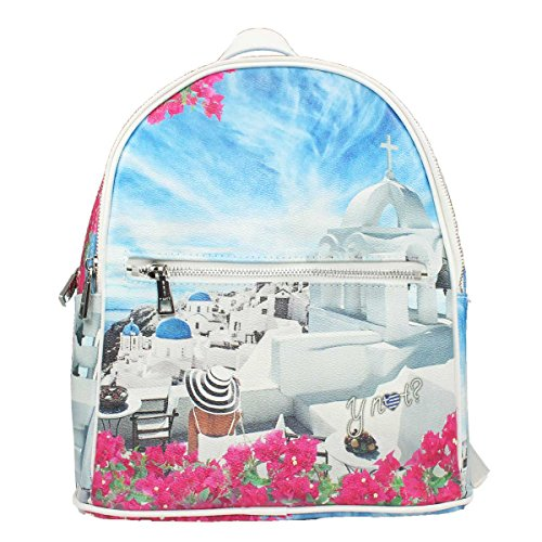 ZAINO MEDIUM DONNA Y NOT  BACKPACK WHITE PARTY INSTANT J-382 d1670a3a7b8