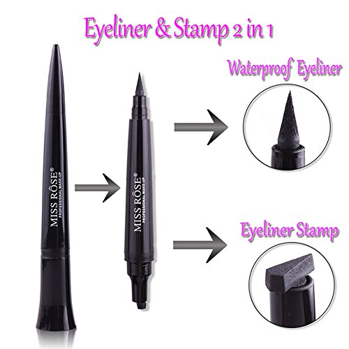 Ladygo Eyeliner Stamp, Winged Eyeliner Pen Bullet Shape, Waterproof & Long Lasting, Easy and Perfect to Make Cat Eyes, Makeup in 3 Senconds Tool