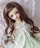 Tita-Doremi BJD Poupée Perruque Ball-jointed Doll 1/4 7-8 Inch 18-19cm SD MSD MDD Luts Minifee AOD DOD DZ Brown Mohair Perruque Cheveux Toy Head (Perruque Seulement,pas une poupée )