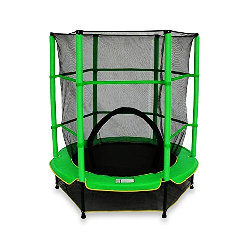 We R Sports - Kinder-Trampolin mit Sicherheitsnetz, My First Trampoline, grün