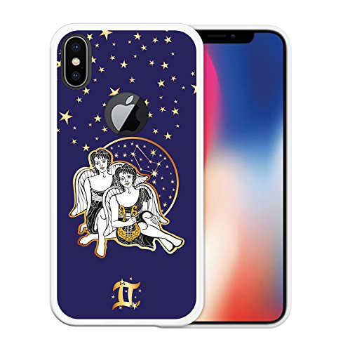 iPhone X Hülle, WoowCase Handyhülle Silikon für [ iPhone X ] Tierkreiszeichen Widder Handytasche Handy Cover Case Schutzhülle Flexible TPU - Transparent Housse Gel iPhone X Transparent D0175