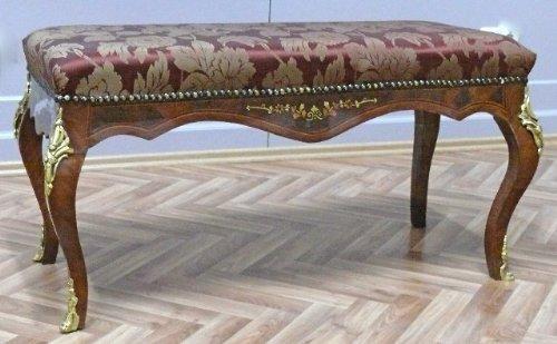 LouisXV Barock Hocker Sitz Rokoko- Antik Stil MoBd0762Luster9 antik Stil Massivholz. Replizierte...
