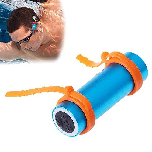 smartera® 4GB Wasserdicht Unterwasser MP3+ FM Radio Anzug für Schwimmen, SPA, Surfen, Joggen, Klettern und andere Sport (blau)