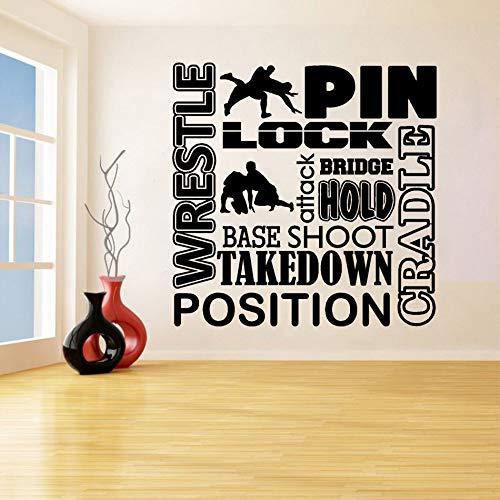 sswymx Wrestling Wandtattoo Wrestle Wandaufkleber Abnehmbare Wrestling Wandkunst Dekoration Chambre Für Wohnzimmer Dekor57X57 cm
