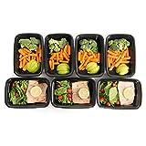 Meal Prep Haven Lebensmittelbehälter mit Deckel, für Portionierung, stapelbar, auslaufsicher, Mikrowelle, spülmaschinenfest, wiederverwendbar, 7 Stück